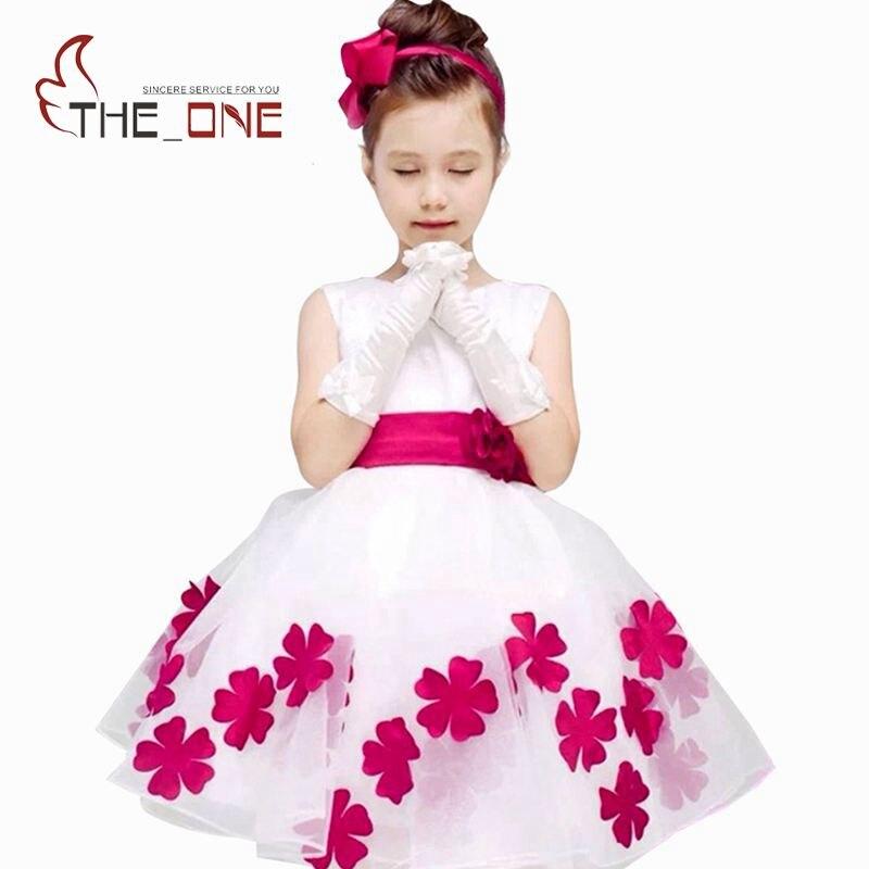 Kids Girl Summer Dress Bowknot Girls Wedding Dress Flower Princess Party Dresses Children Baby Girl Dress