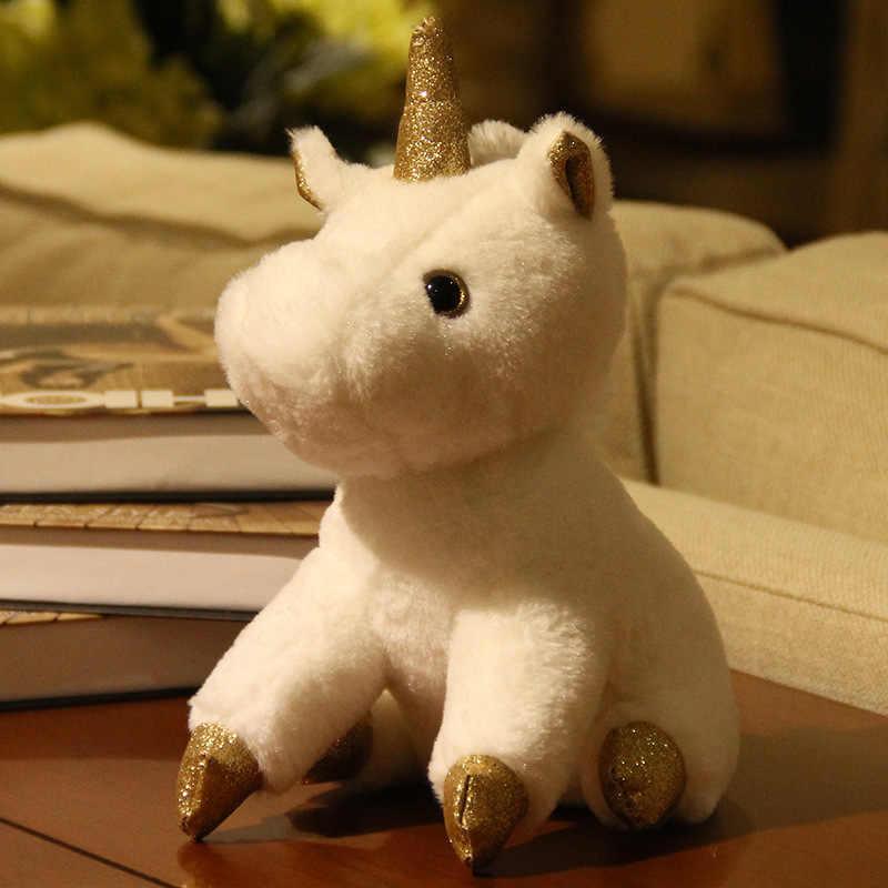 Горячие 23 см 2 цвета горячие милые плюшевые игрушки-единороги для детей мягкие животные плюшевый медведь, куклы на день рождения Вязание рождественские подарки