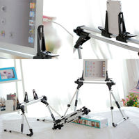 Foldable Tablet PC Stand Lazy Bed Desk Floor Mount Holder For IPad 1 2 3 4