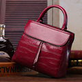 Women Leather handbags European and American fashion genuine leather stone grain shoulder bag Mobile Messenger bags
