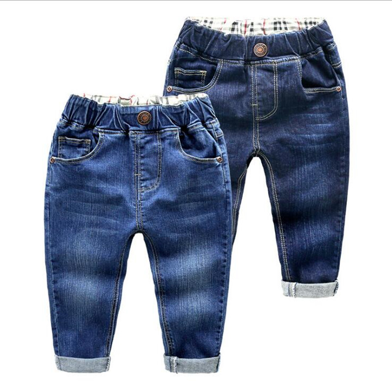 Boys Jeans Pants Girls Clothing Trousers Infant Denim Children's Casual Autumn Spring title=