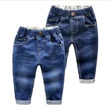 Chłopcy dżinsy wiosna jesień dziewczyny dzieci dżinsy odzież Casual Baby Girl Denim spodnie dziecięce chłopięce spodnie dziecięce dżinsy dla chłopców tanie tanio JEANS ExactlyFZ Stałe Unisex Wysoka Na co dzień 2019 Pasuje prawda na wymiar weź swój normalny rozmiar Elastyczny pas
