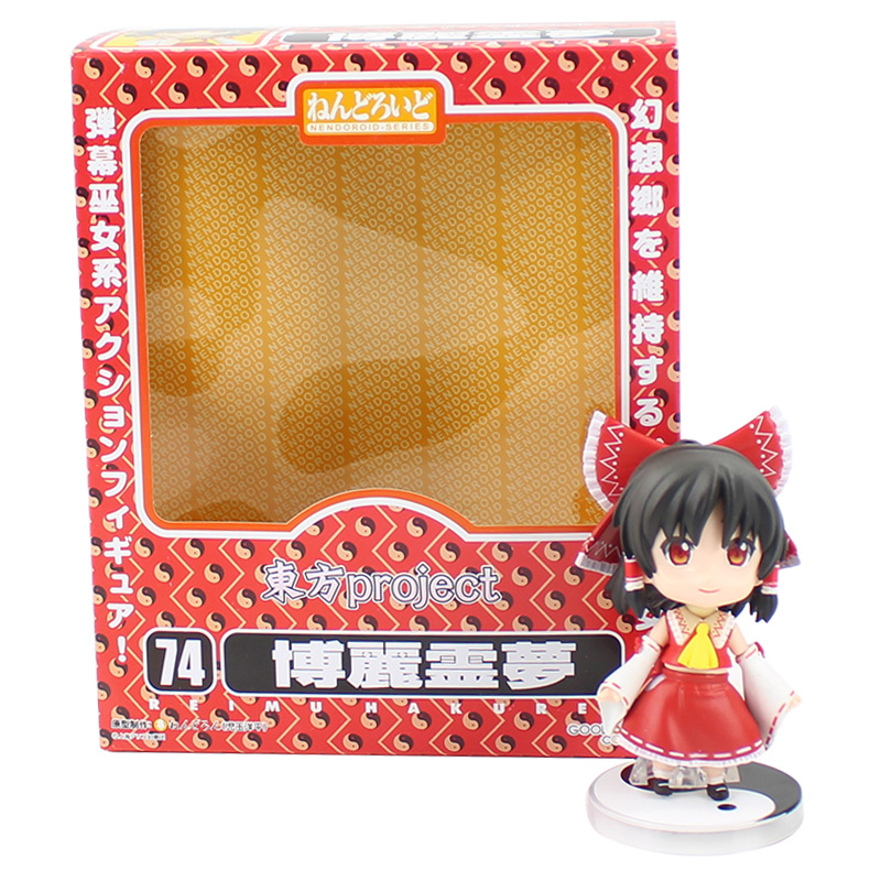 Anime Nendoroid 74 Touhou Project Reimu Hakurei Action PVC Figure New No Box