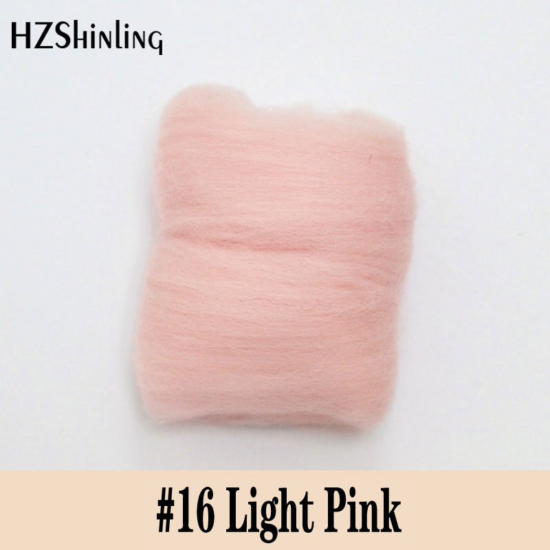 5 G Super Soft Felting Short Fiber Wool Perfect In Needle Felt And Wet Light Pink Color DIY Wool Material