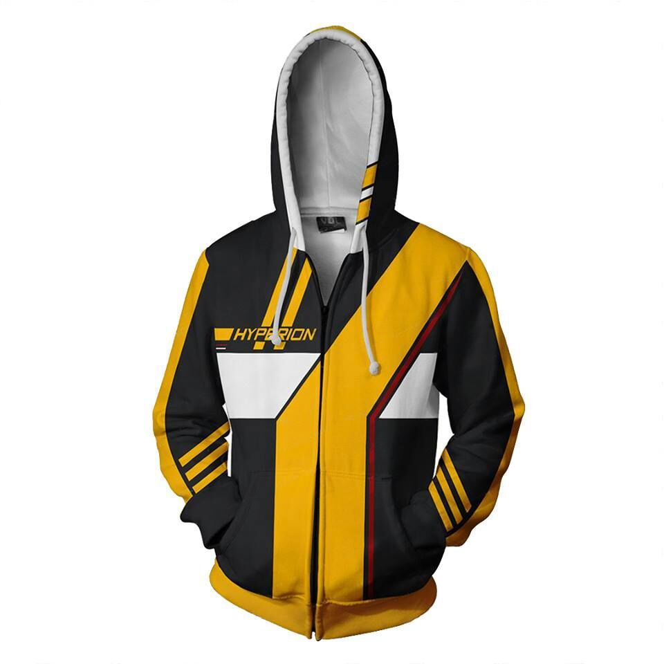 3D Print Borderlands Hyperion Sweatshirts Men And Woman Hoodies Fashion Cosplay Zipper Hooded Jacket Clothing