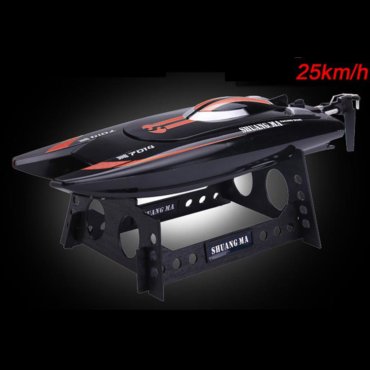ФОТО SHUANG MA DH7014 High Speed 2.4G 25KM/H Racing RC Boat Electric Remote Controlled Speedboat with Super Water-cooled Motor