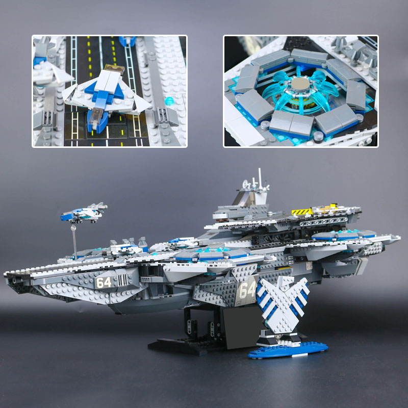 Lepin 07043 Super Heroes The Shield Helicarrier Model legoing 76042 Educational Building Kits Blocks Bricks Funny Toys for Boy