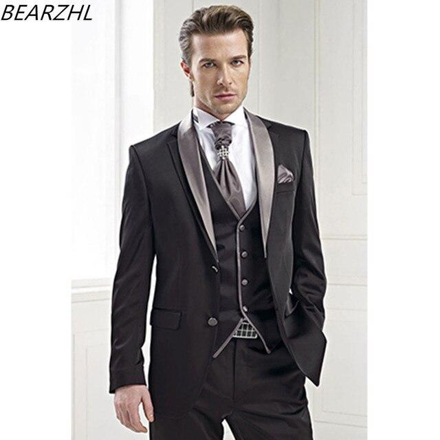 Préférence Tuxedo mariage noir marié porter pour hommes marié costumes homme  SX45