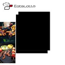 Падение 2 шт многоразовый антипригарный коврик для барбекю гриль для выпечки легко чистится жаренный лист для гриля портативный инструмент для приготовления барбекю на открытом воздухе для пикника