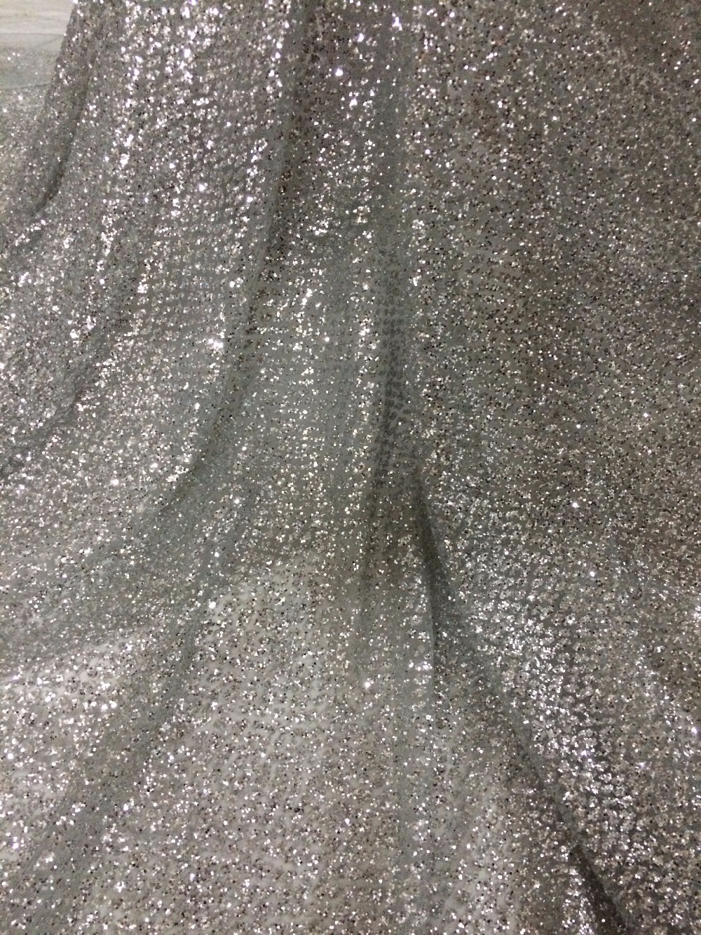 on sale african tulle lace fabric french net lace fabric CiCi 92716 with glued glitter-in Fabric from Home & Garden    1