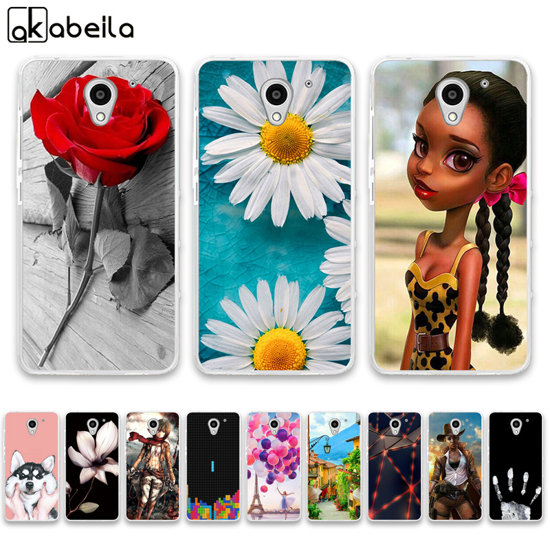 AKABEILA Silicone Phone Cases For ZTE Blade A510 Case On The For ZTE Blade A510 A 510 A2 Covers Flamingo Nutella Fundas Coque