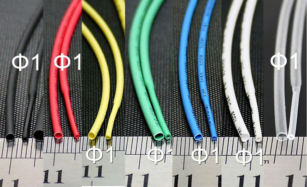 2:1 Heat Shrink Tube Tubing ROHS UL Black//Green//Clear//Blue//White//Red New 2mm