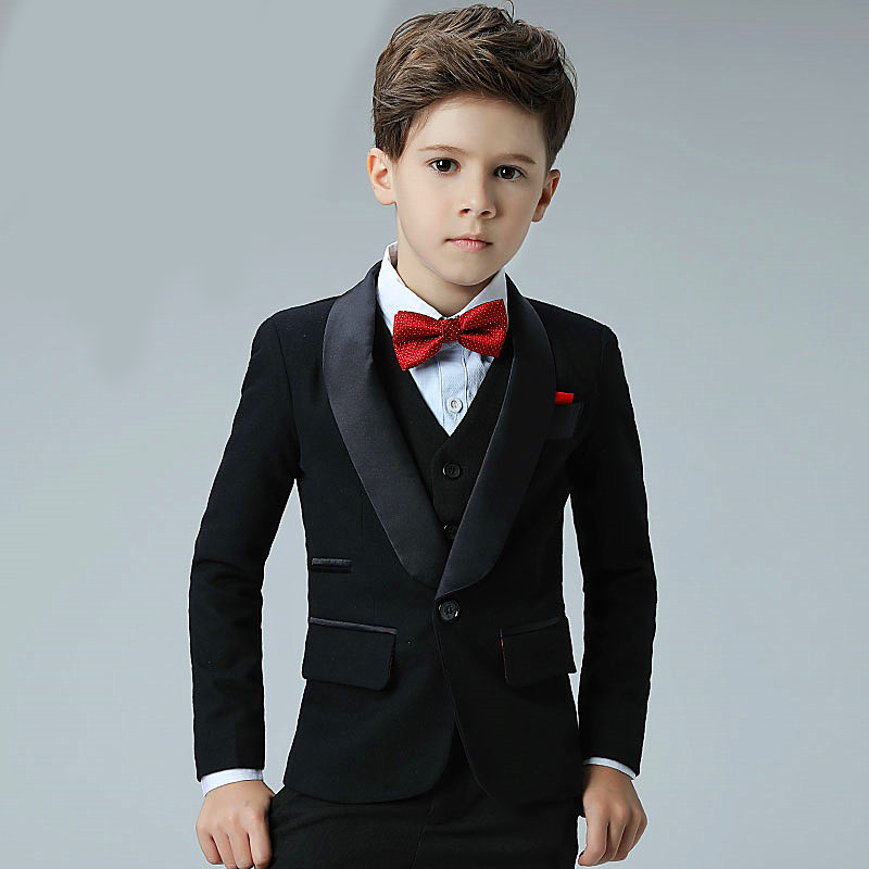 5 Piece 2018 New Boy Flower Girl Wedding Suit Korean Boys Prom Suits ...