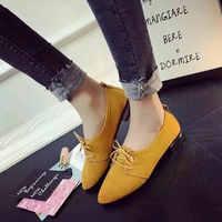Women Flat Shoes 2019 New Flats Ladies Dress Shoes Golden Heel Lace Up Loafers Casual Shoe Autumn Women's Shoes Casual Dress