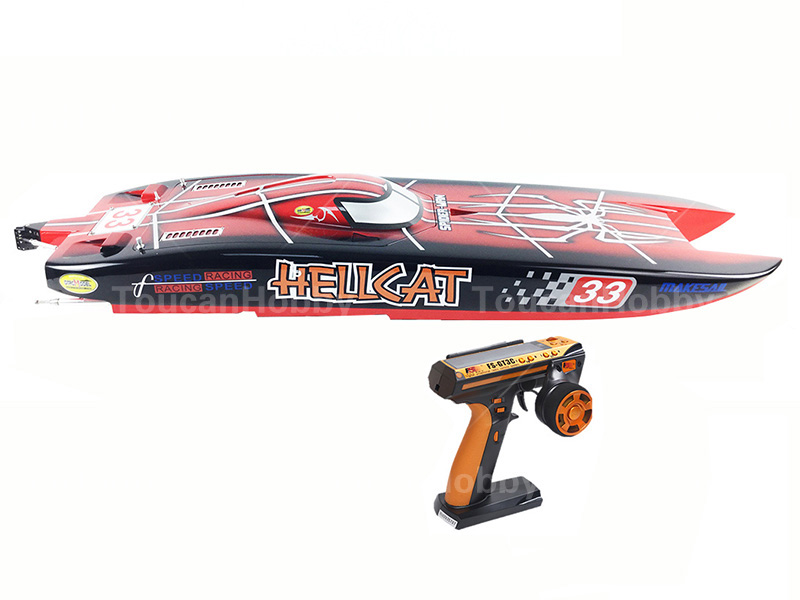 E51 RTR Dual Motors Electric RC Racing Boat W/120A ESC/RadioSys/100kmh/battery Spider Painting h625 rtr spike fiber glass electric racing speed boat deep vee rc boat w 3350kv brushless motor 90a esc remote control green