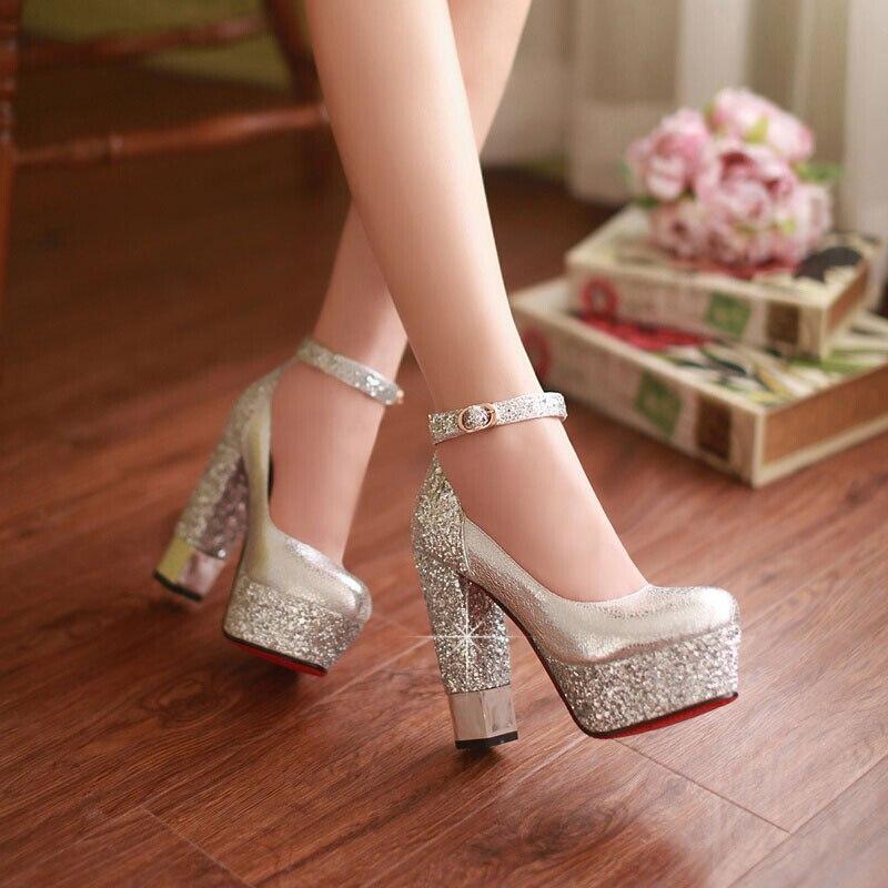 Pequeño gran tamaño 42 de Oro zapatos zapatos zapatos de tacón alto de las mujeres 0916af