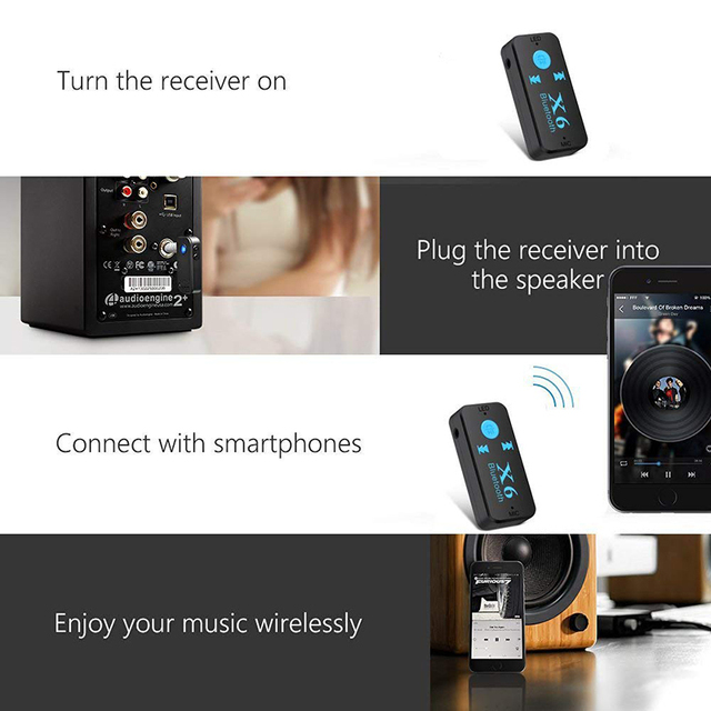 Car Music Mp3 Receiver  Car Bluetooth Receiver Wireless Car Audio AUX Bluetooth Receiver Adapter Car Kits Music Hands-free #3