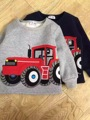 2016 Boys Winter Truck Design Shirts with cashmere inside Children sweatershirt  spring autumn cotton baby t-shirt wholesale