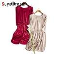 Las mujeres de seda dress lujo 19mm 100% natural seda de mora de seda mini dress sólido classic dress 2017 vino la primavera de color caqui