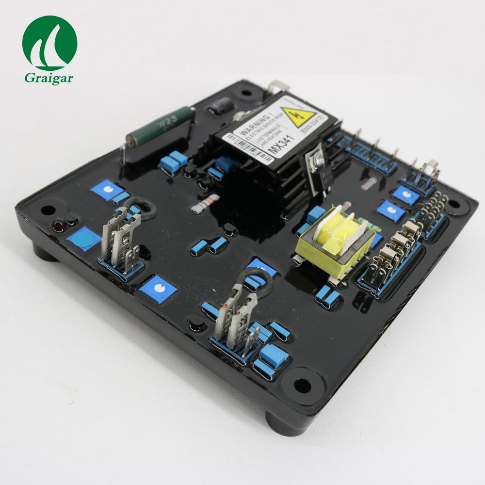 Generator Automatic Voltage Regulator MX341 Geneartor AVR(RED) With Soft start voltage ramping generator avr automatic voltage regulator davr 150s3