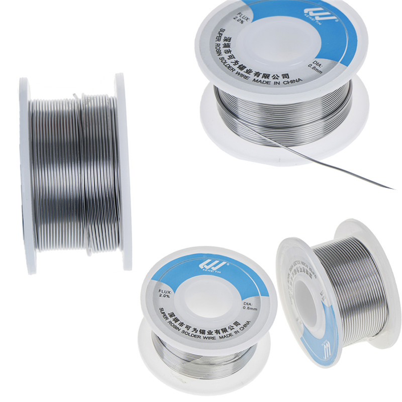 Soldering Wire Flux Reel Tube <font><b>Solder</b></font> Wire Tin 0.8mm/1.0mm Pb:40%,Sn:60%,Flux: 2% KW -<font><b>60/40</b></font> Lead Roll Clean Rosin Welding Core image