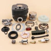 50MM Cylinder Piston Oil Pump Worm Gear Starter Rebuild Kit For HUSQVARNA 362 365 371 372 372XP Chainsaws Engine Parts 12mm Pin