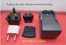 Novo quente 2cr5 6 v câmera carregador de bateria de lítio recarregável carregador de bateria