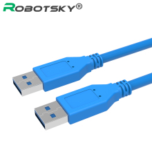 Robotsky Fast Speed USB 3.0 Type A Male to Type A Male Extension Cable 0.5M 1M USB Cable for Radiator, Webcam, Car MP3, Camera