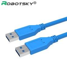 Robotsky Быстрая Скорость USB 3.0 Type A Мужской Типа Мужской Кабель-Удлинитель 0.5 М 1 М USB Кабель для Радиатора, веб-камера, автомобиль MP3, камера