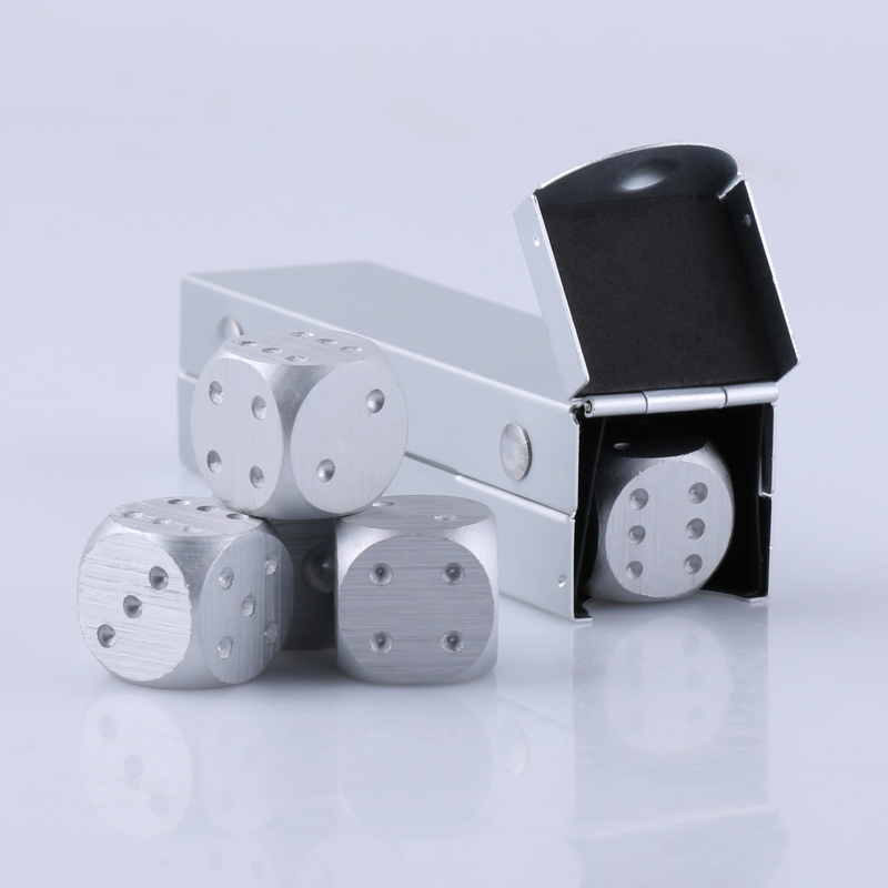5pcs/lot Dice Set Whisky Wine Beer Cooler Ice Stone Stainless Steel Cube Physical Cooling Tools Ice Coolers Holder