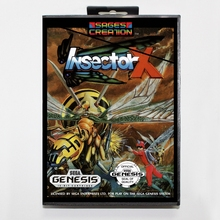 Insector X 16 bit MD card with Retail box for Sega MegaDrive Video Game console system
