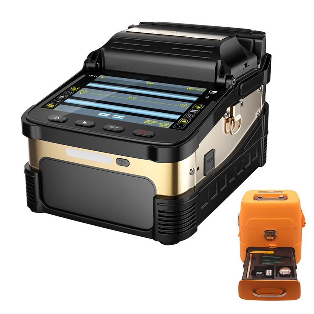 Livraison gratuite signalfire AI-8 SM et MM 6 s rapide splcing Fusion De Fiber Colleuse 6 moteur fiber colleuse machine
