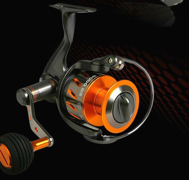 okuma raw ii carretel de pesca fiacao bobina de metal completo carpa engrenagem pesca fio spooler