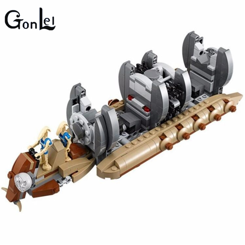 (GonLeI) 10374 NEW StarWars Battle Droid Troop Carrier model Building Blocks kid Toys Gifts figure Boys compatible with