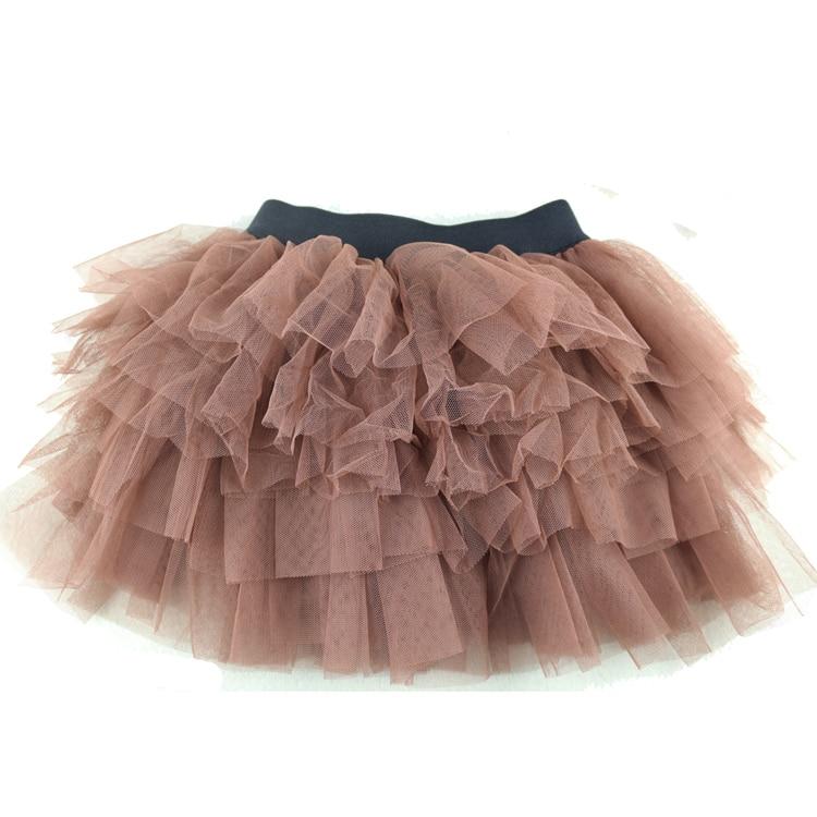 Girls Skirts Brown Tutu Skirts Tutus Fluffy Skirt For Baby Girls 3-8 Years Pettiskirt チュチュスカート Spódnica Tutu  юбка балетной пачк