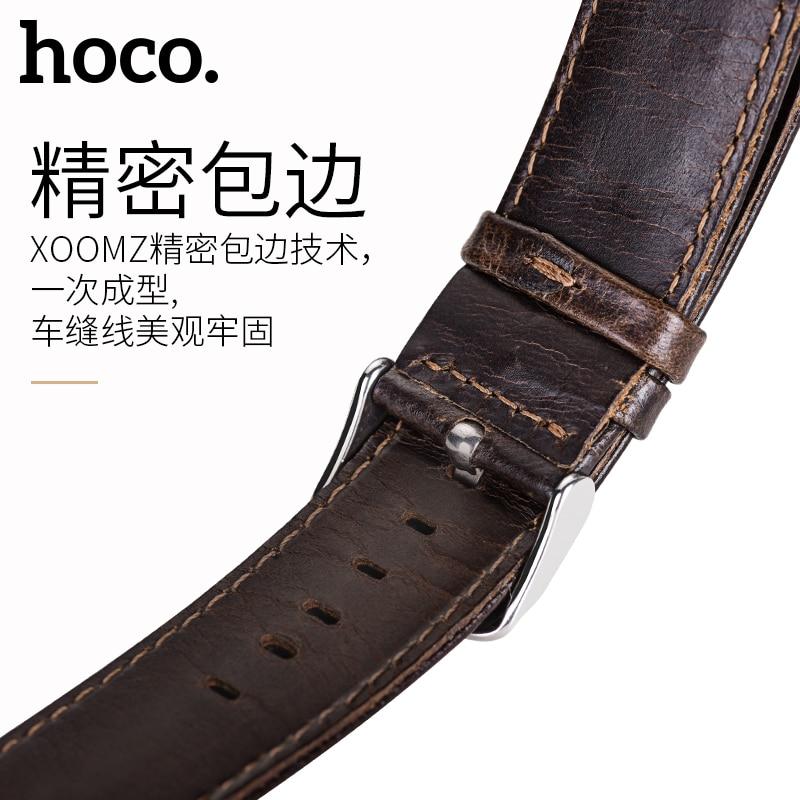 Hoco quick release ремешок для часов 20 мм из натуральной кожи