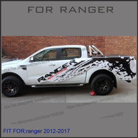 Left And Right Mudslinger Ranger With Red Wildtrack Body Rear Tail Side Graphic Vinyl For Ford