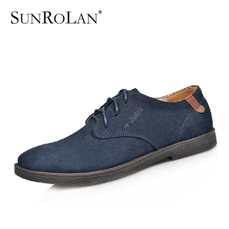 British lace-up suede men shoes genuine leather oxfords casual male business shoes plus size 37-47 men's flats shoes N13B362 zdrd new fashion genuine leather men business casual shoes british low top lace up suede leather mens shoes brown red men shoes