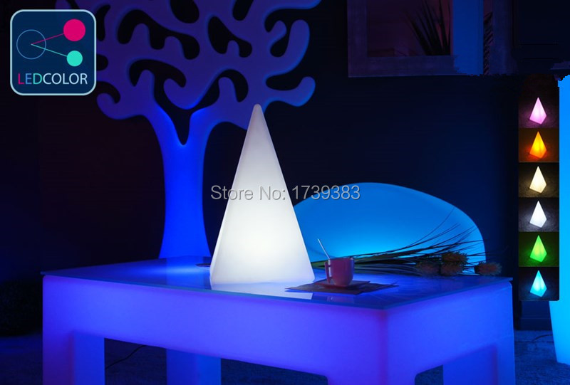 2 pieces/lot Remote control colorful modern minimalist LED pyramid light of decoration led night lamp for Christmas gifts keyshare dual bulb night vision led light kit for remote control drones