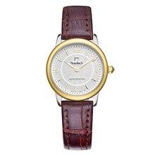 Nuodun Reloj de la Marca 2016 Mujeres Relojes de Marca de Lujo Casual de Las Señoras Vestido de Cuarzo Reloj de Cuero Resistente Al Agua Relogio Feminino