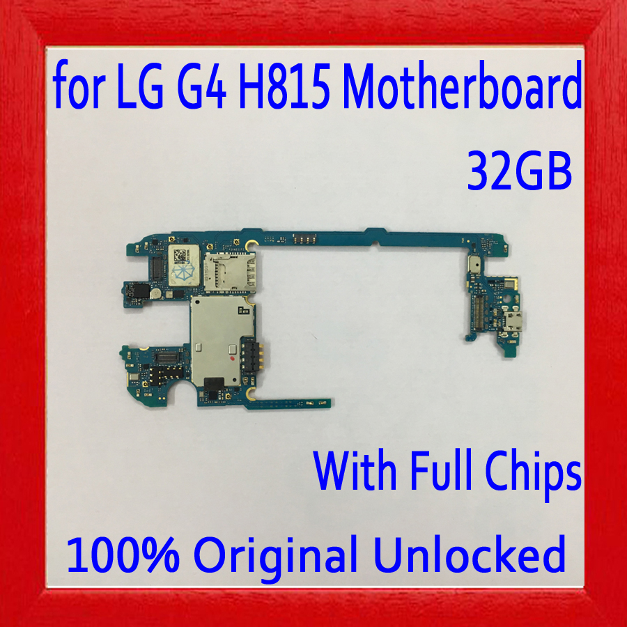 Original unlocked for LG G4 H815 Motherboard with Full Chips,32gb for LG G4 H815 Logic board with Android System,Free ShippingOriginal unlocked for LG G4 H815 Motherboard with Full Chips,32gb for LG G4 H815 Logic board with Android System,Free Shipping