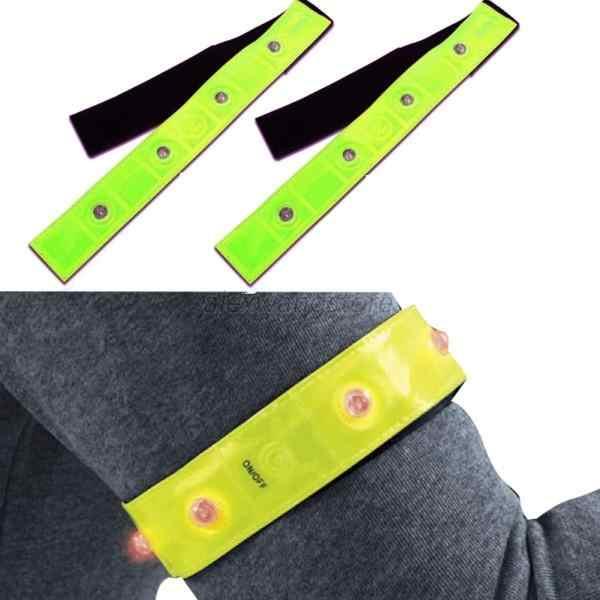 1 Stuk Set Fietsen Fiets Reflecterende Bands Met 4 Led-verlichting Veiligheid Running Fietsen