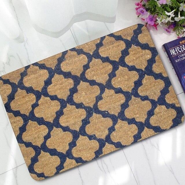 rubber plaid door mat welcome doormats geometric carpet for living room bedroom floor mats kitchen rugs - Floor Mats For Living Room