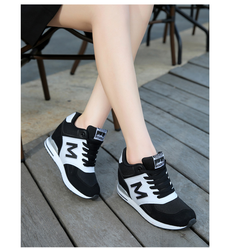 Height Increasing Wedges Shoes Woman Fashion Spring Lace Up High Top Women Casual Shoes Cow Suede Women\'s Vulcanize Shoes ZD36 (17)