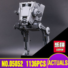 Lepin 05052 Star 1136pcs New War Series The Empire AT ST Robot Building Blocks Bricks