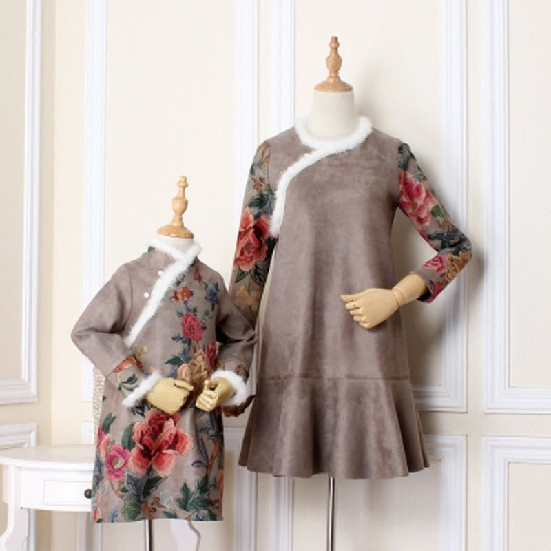 2018 New classical Cheongsam Children clothes women girls family look matching clothing mother daughter mom & baby lady dresses 2018 brand new children clothes women girls family matching clothing family look mother daughter mom