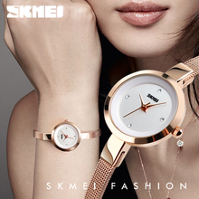 купить SKMEI 1390 Minimalist Watches for Women Fashion Luxury Brand Watch Lady Crystal Small Dial Wristwatches Horloges Vrouwen Topmerk дешево
