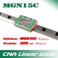 15 мм линейная направляющая MGN15 L = 400 мм линейный рельсовый путь + MGN15C длинная линейная перевозка для оси CNC X Y Z Бесплатная доставка