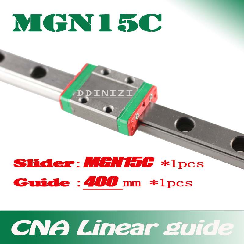 15mm Linear Guide MGN15 L=400mm linear rail way + MGN15C Long linear carriage for CNC X Y Z Axis Free shipping 15mm linear guide mgn15 l 400mm linear rail way mgn15h long linear carriage for cnc x y z axis free shipping