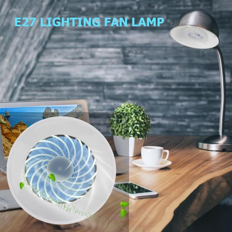 Mini E27 Fan Light Table Lamp Bedroom Bedside Night Lights Home Lighting Led Radiator With Fan Aluminum Heatsink Extruded